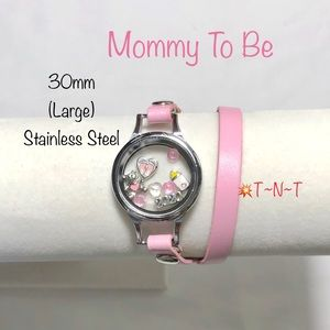 Jewelry - Mommy To Be (Girl) Stainless Living Locket Wrap
